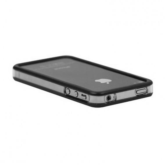 Bumper iphone 4/S preto com transparente
