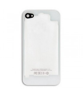 TAPA iPhone 4G Blanco con Transparente