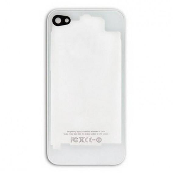 iPhone 4G carcasa, tapa bateria Blanco con Transparente