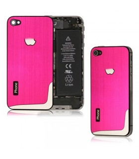iPhone 4Gs carcasa, tapa bateria de metal ROSA