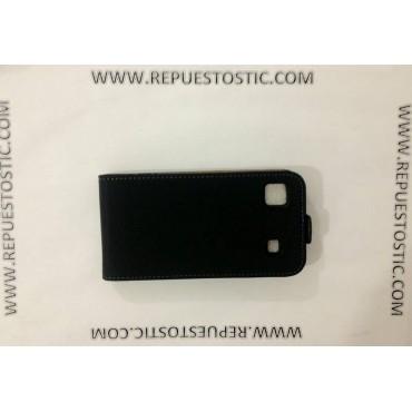 FUNDA para Samsung I9003 - CUERO PRETO