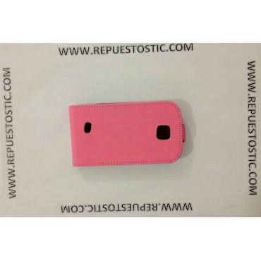 FUNDA para Samsung S5570 - CUERO ROSA