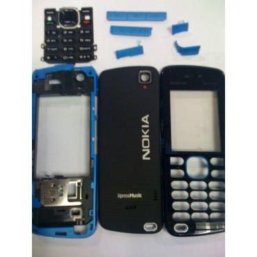 Carcasa Nokia 5220 Completa Negro con Azul