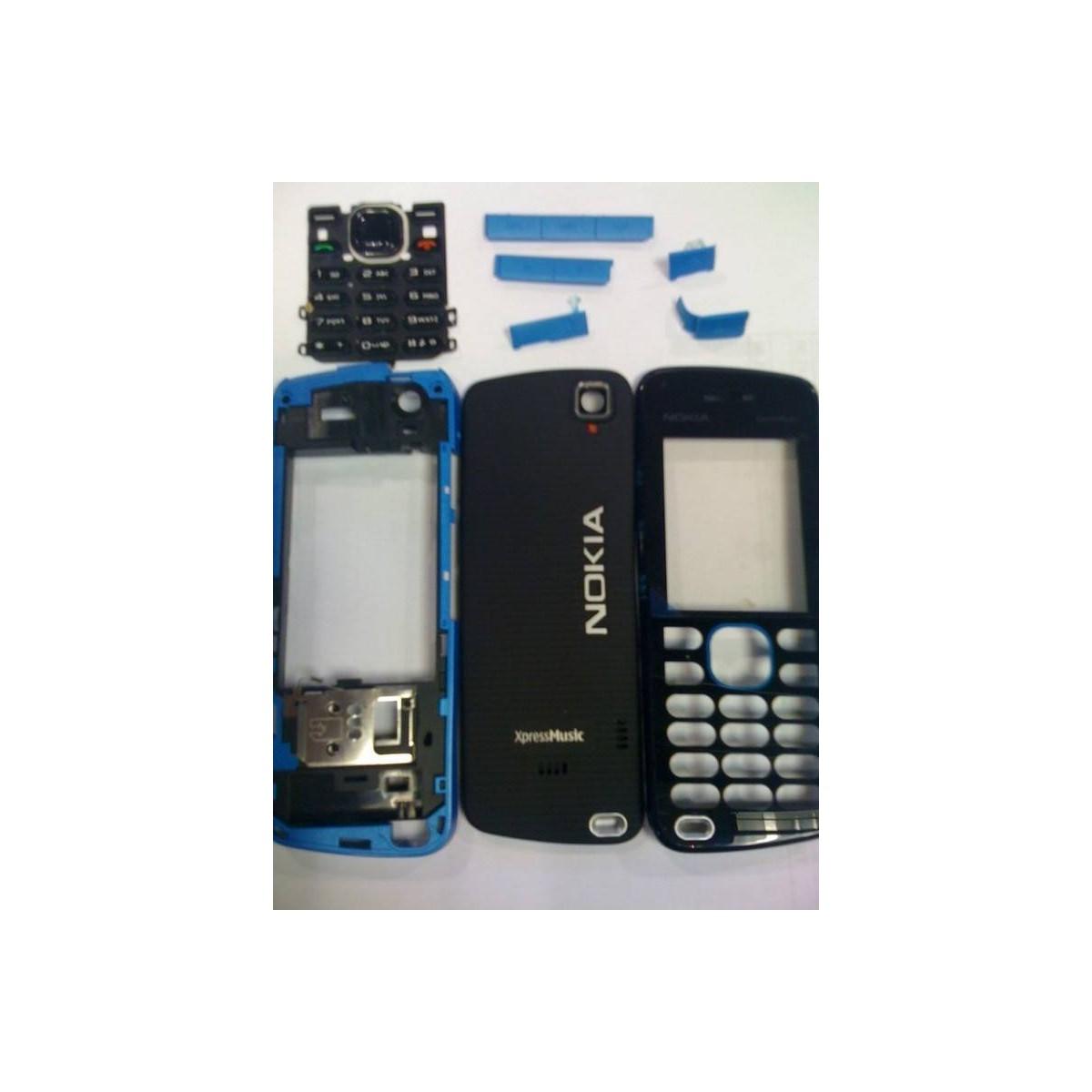 Carcaça Nokia 5220 Completa Preto com Azul