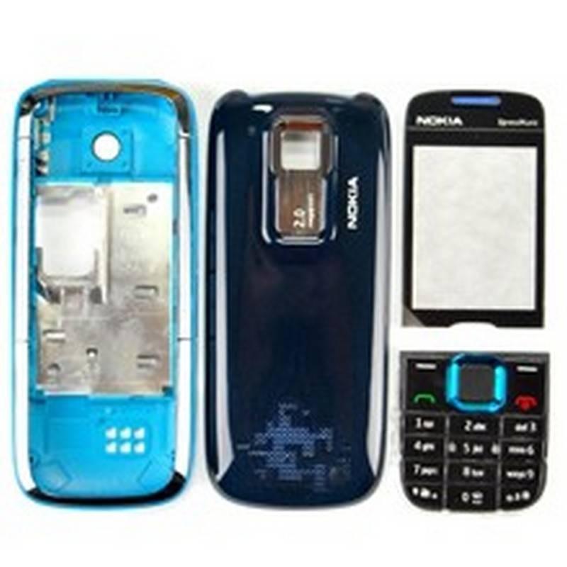 Carcasa Nokia 5130 Negro con Azul Completa