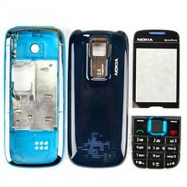 Carcaça Nokia 5130 Preto com Azul Completa