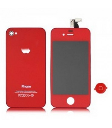 KIT iPhone 4 Pantalla completa + tapa roja