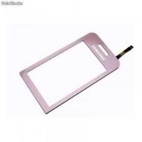 Samsung S5230 digitalizador ventana, pantalla tactil, ventana LCD color ROSA