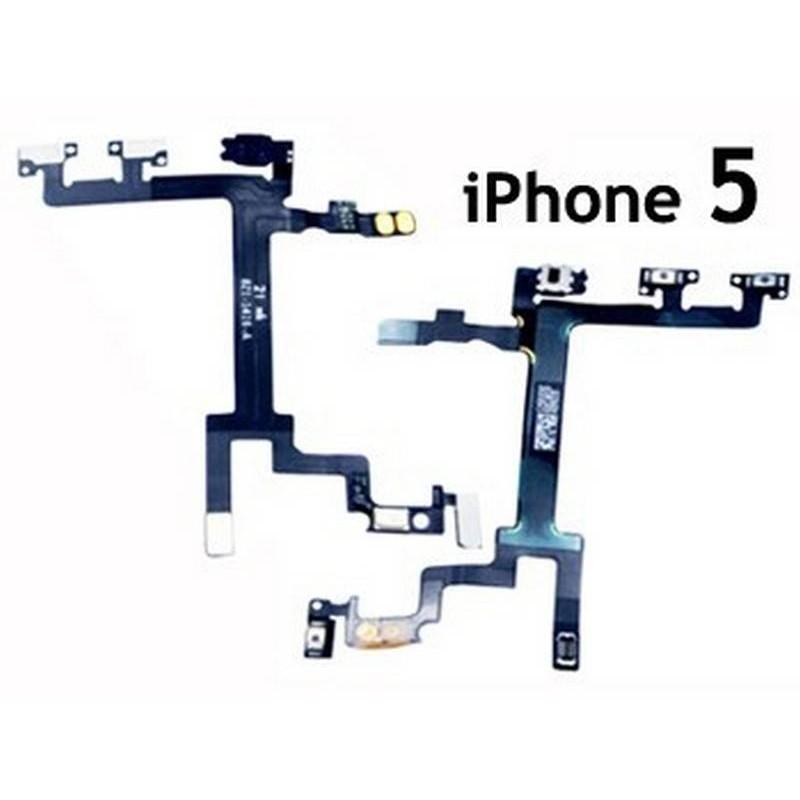 Flex de volume e ignição on/off, para iPhone 5
