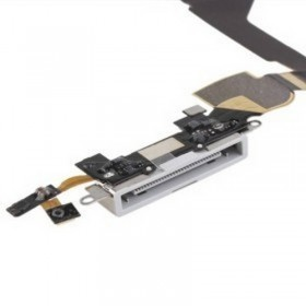 IPHONE 4S CONECTOR DE ACCESORIOS CON CABLE FLEX , Blanco