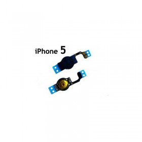 Cable flex con interruptor home negro para iphone 5