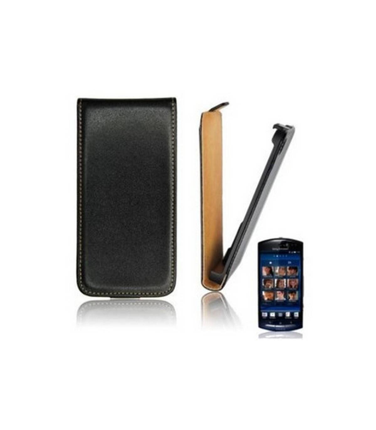Funda PIEL leather SLIM para Sony Ericsson Xperia Neo MT15i, Neo V MT11i