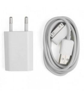 2 en 1 CABLE USB + CARGADOR DE RED USB PARA IPHONE, IPAD, IPOD