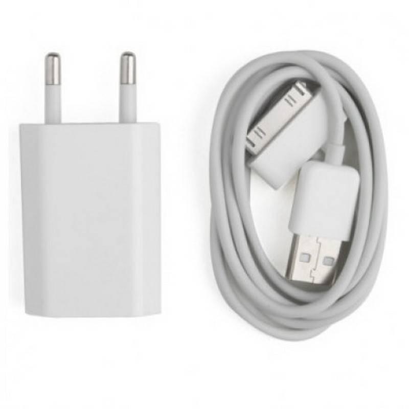 2 em 1 CABLE USB + CARGADOR DE RED USB PARA IPHONE, IPAD, IPOD