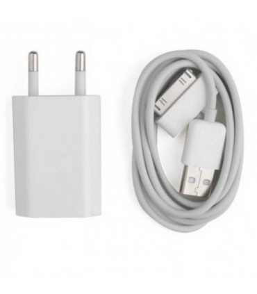 2 em 1 cabo USB + carregador de RED USB para iPhone, IPAD, iPod