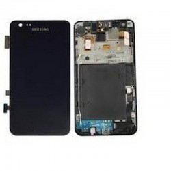 pantalla completa con marco Samsung Galaxy I9100, S2 negra
