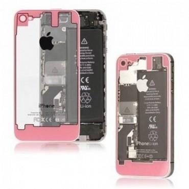 tapa iPhone 4 TRASPARENTE y ROSA