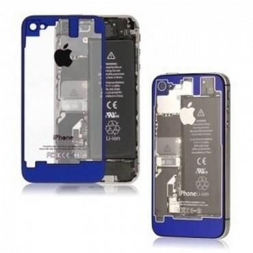 tapa iPhone 4 TRASPARENTE y azul
