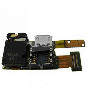 Cabo flex Nokia 5330, de câmera, com conetor de carrega, e conetor de fone de ouvidoes