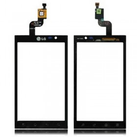 Pantalla digitalizadora, ventana tactil cubre display negro de LG P920 Optimus 3D