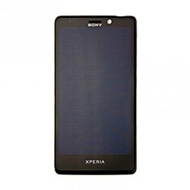 Ecrã Original Completa: lcd + tactil + carcaça frontal Sony Xperia T LT30p