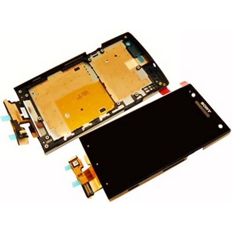 Ecrã Completa para Sony Xperia S LT26i. Con marco preto