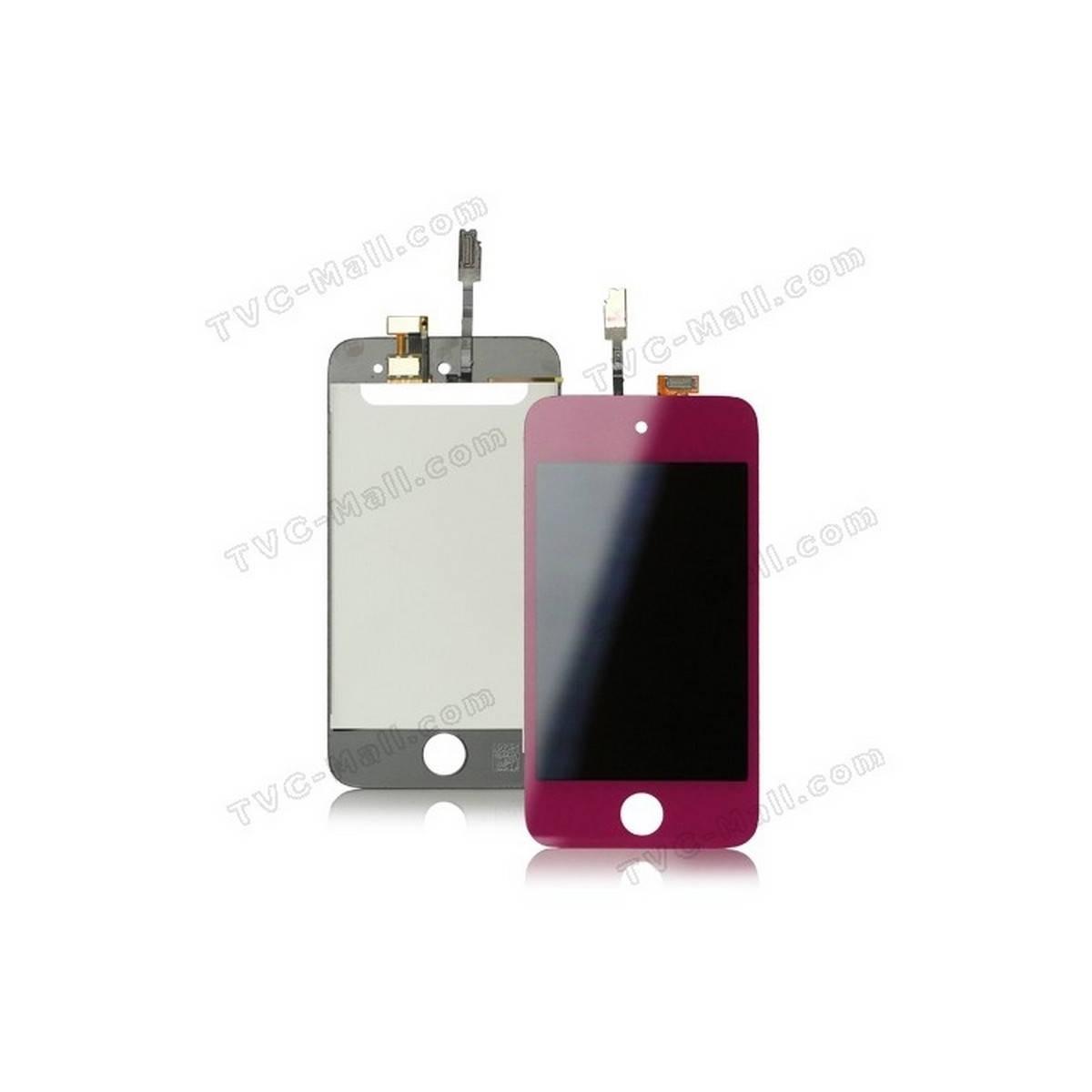 Pantalla tactil + LCD IPOD TOUCH 4 ROSA
