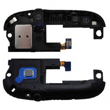 Modulo de antena preto com altavoz polifonico/Buzzer e conetor de fone de ouvidoes para Samsung i9300 Galaxy S3, SIII