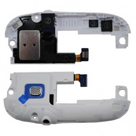 Modulo de antena branco com altavoz polifonico/Buzzer e conetor de fone de ouvidoes para Samsung i9300 Galaxy S3, SIII