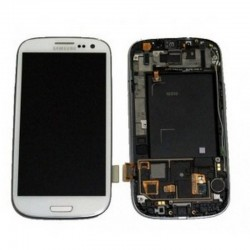 Pantalla completa + carcasa frontal Samsung Galaxy S3 i9300. BLANCA ORIGINAL