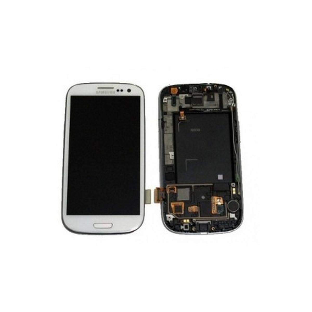 Ecrã completa + carcaça frontal Samsung Galaxy S3 i9300. BLANCA ORIGINAL