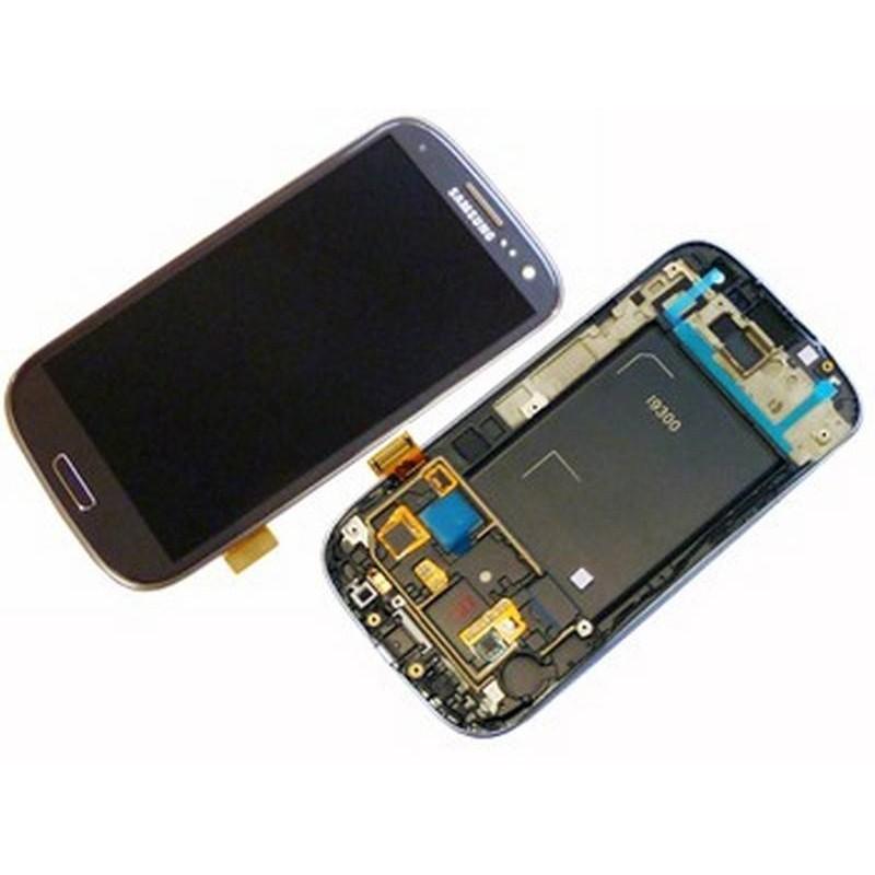 Ecrã completa + carcaça frontal Samsung Galaxy S3 i9300. GRIS ORIGINAL