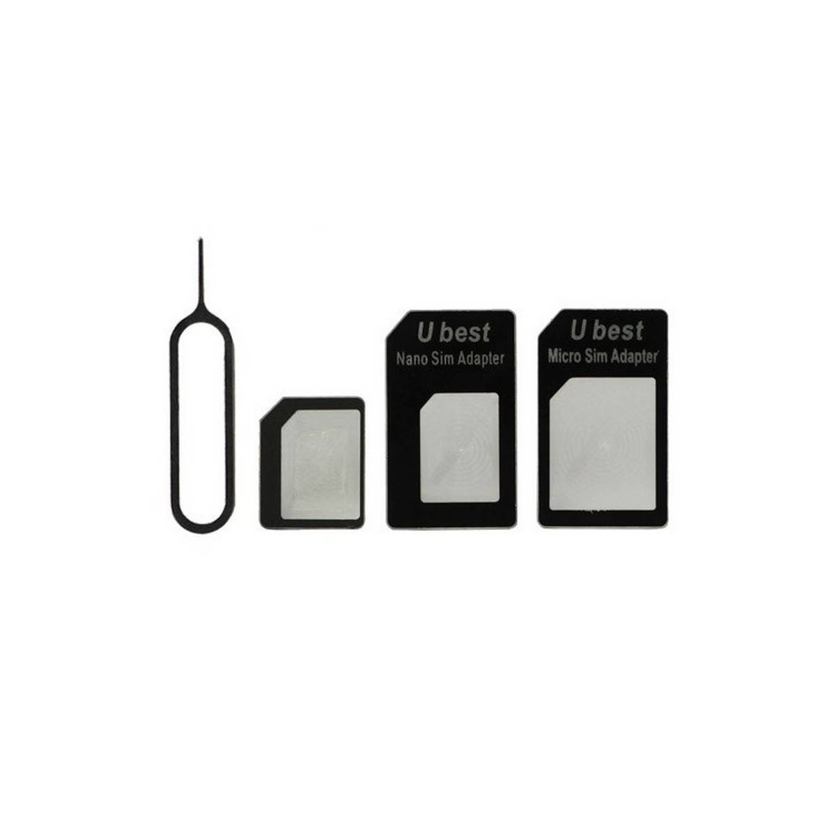 NANO A MICRO/NORMAL SIM TARJETA ADAPTADOR PARA APPLE IPHONE 5 4S 4G 3GS 3G PRETO