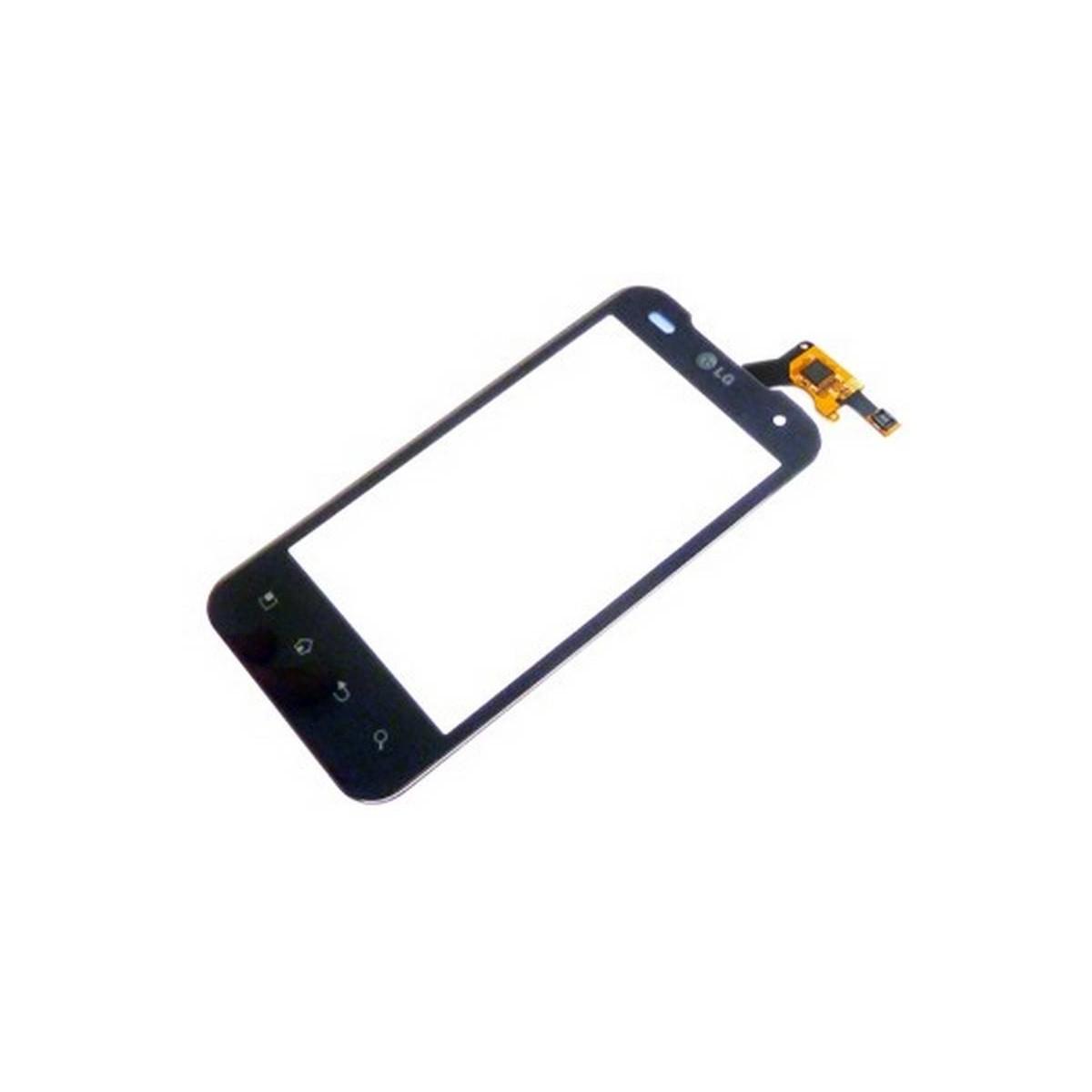 Tactil LG P990 Optimus Speed 2X ecrã Preta