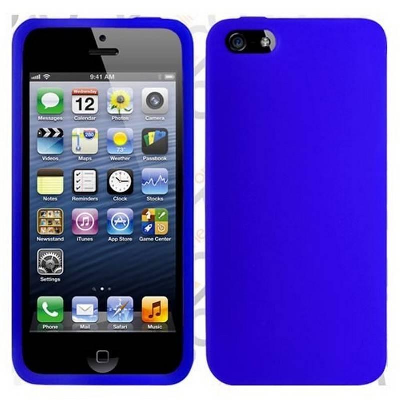 funda silicona azul marino iphone 5 5s