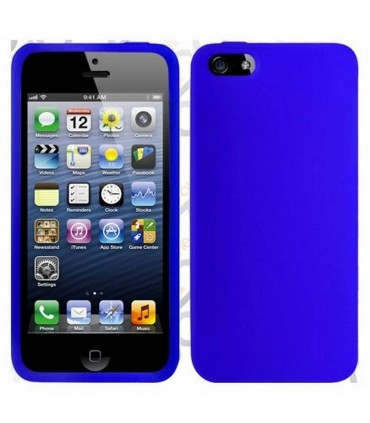 funda silicona azul marino iphone 5 5s