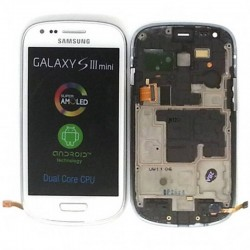 Pantalla Completa (Display + Tactil) para Samsung Galaxy S3 Mini, I8190 BLANCA