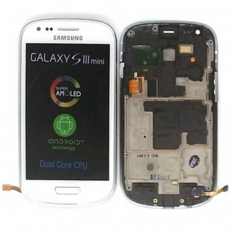 Ecrã Completa (Display + Tactil) para Samsung Galaxy S3 Mini, I8190 BLANCA
