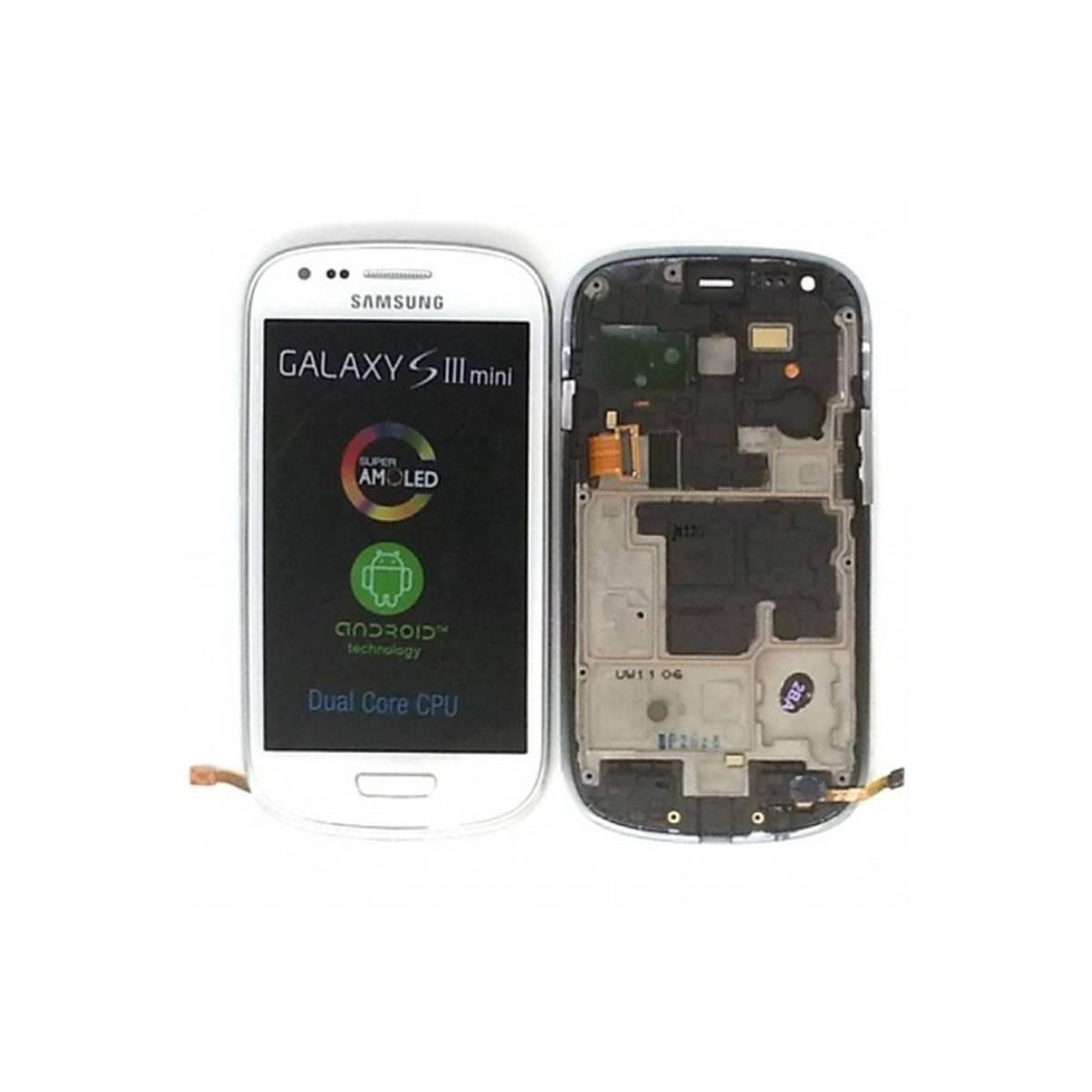 Ecrã Completa (Display + Tactil) para Samsung Galaxy S3 Mini, I8190 BLANCA