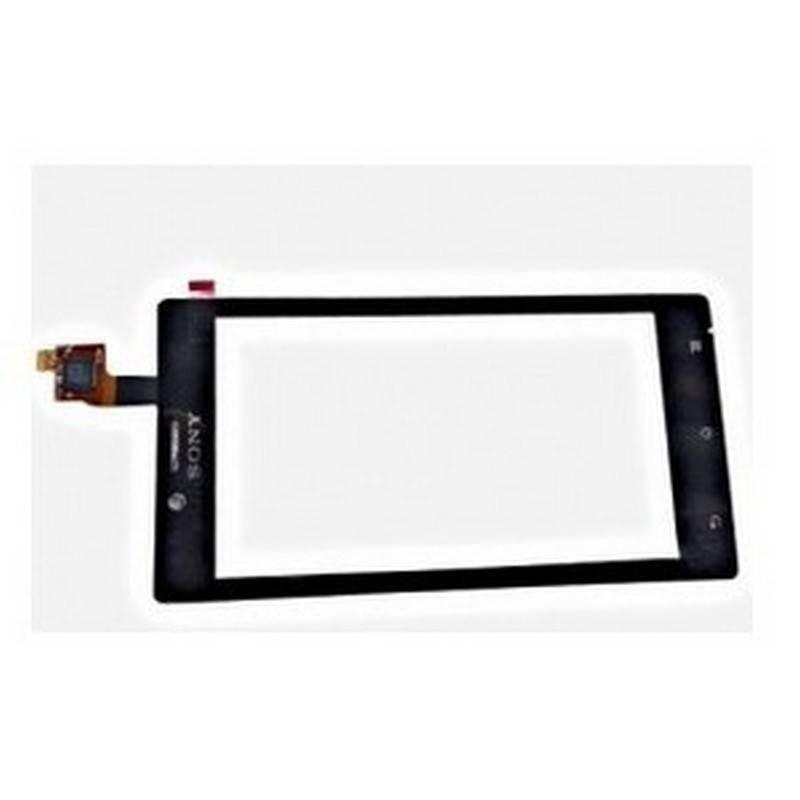 Ecrã táctil preta para Sony Xperia J, ST26, ST26I
