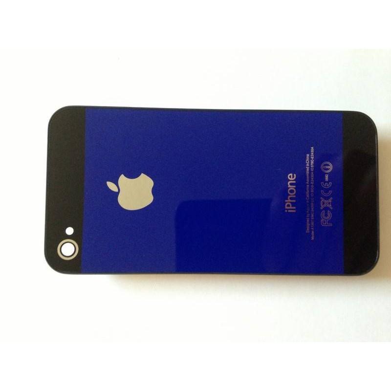 tapa trasera iphone 4 azul