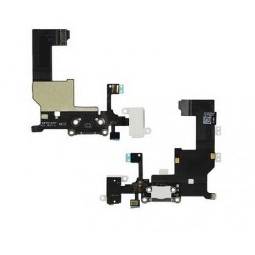 conector carga y auricular iphone 5 blanco