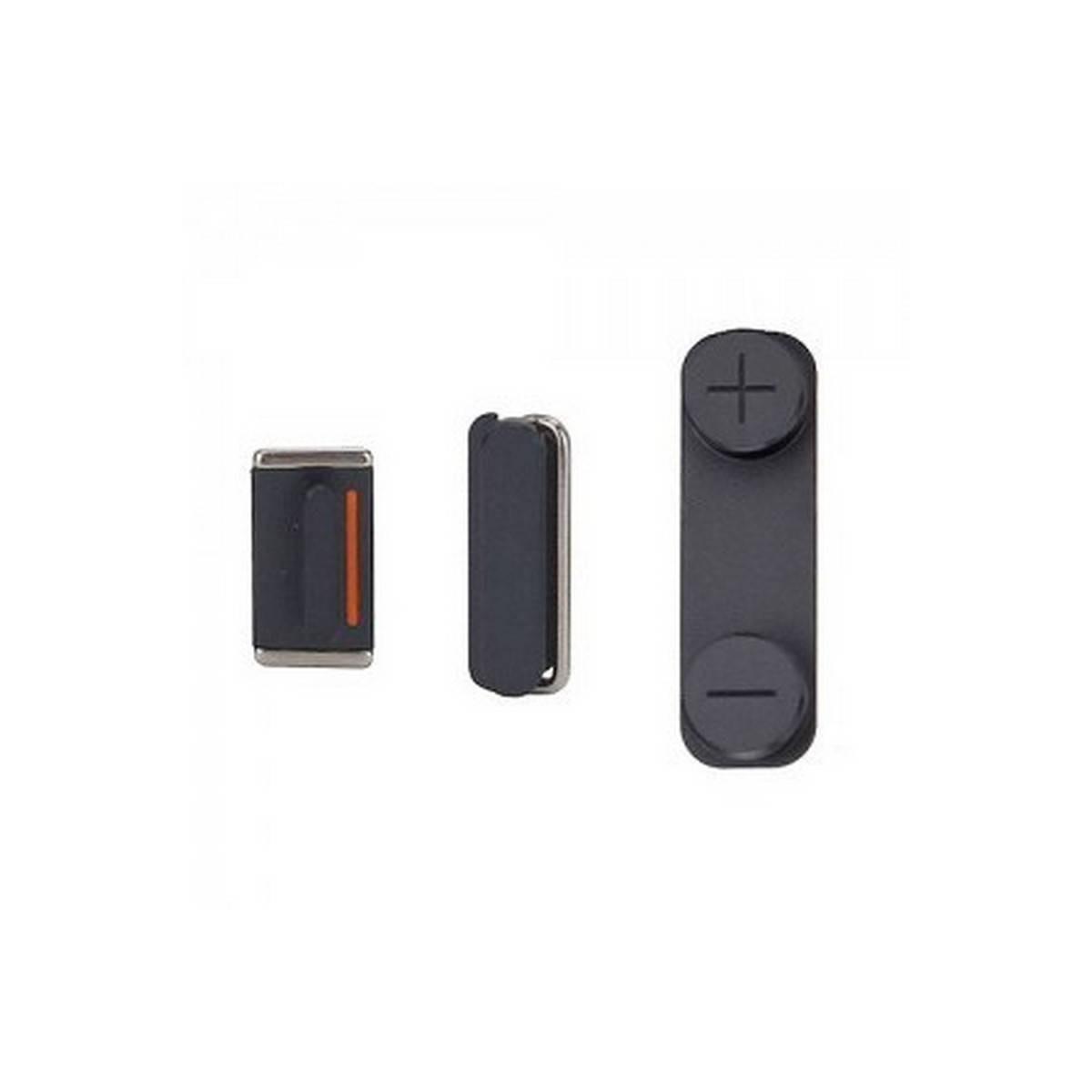 Kit Botones iPhone 5- Negro