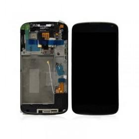 Pantalla Completa para LG Nexus 4 E960 en color Negra con marco