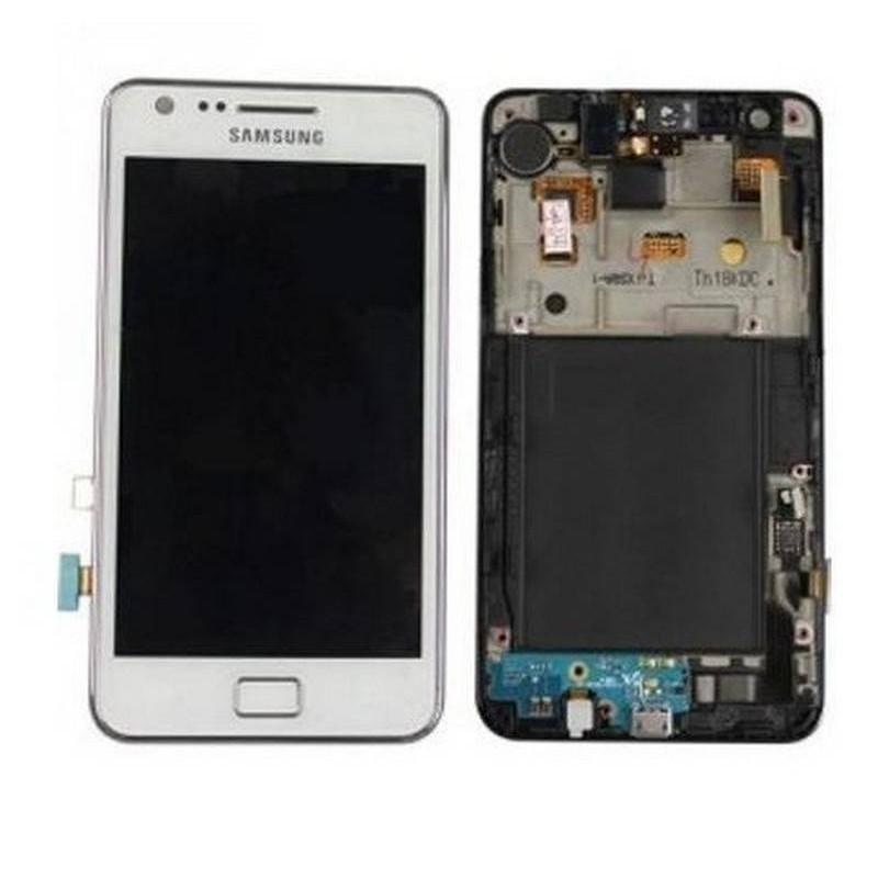 ECRÃ completa com marco Samsung Galaxy I9100 S2 branca