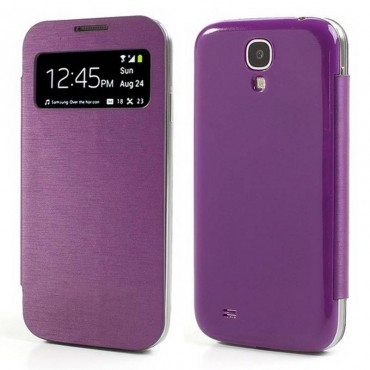 FUNDA carcasa Samsung I9500, S4 MORADA