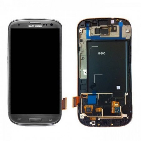 pantalla COMPLETA Samsung Galaxy S3 I9300, COMPATIBLE Gris