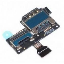 Flex con lector de tarjeta SIM y tarjeta de memoria MicroSD para Samsung Galaxy S4 Mini I9195