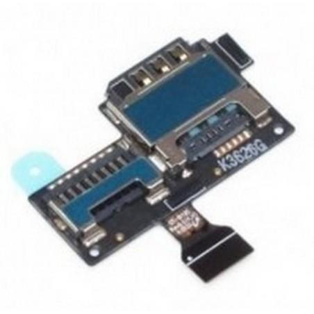 Flex com leitor de cartão SIM e cartão de memoria MicroSD para Samsung Galaxy S4 Mini I9195
