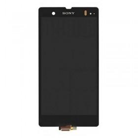 Pantalla completa sin marco para Sony Xperia Z, L36H, C6602, C6603.C6616. negra